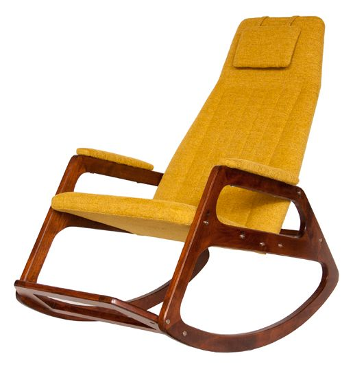 midcentury rocking chair with adjustable seat options