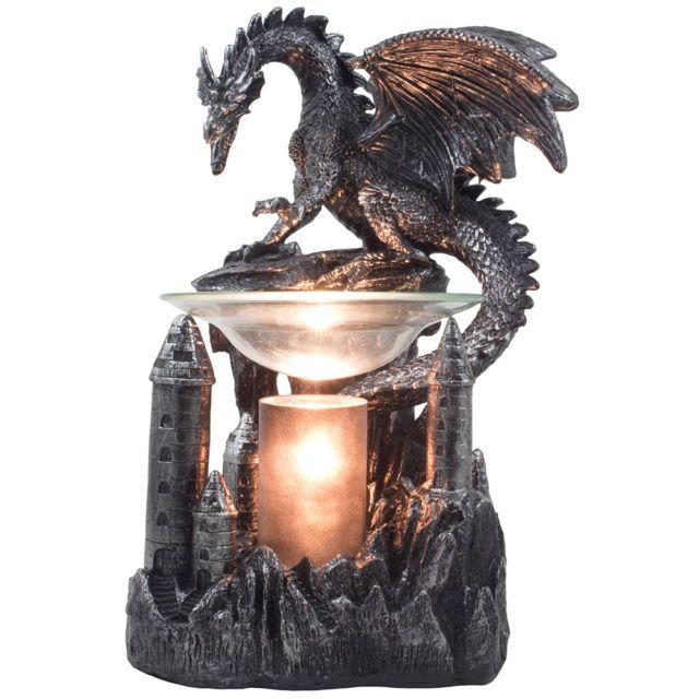 Mythical Dragon Electric Oil Warmer Tart Burner Medieval Decor Fantasy Gifts