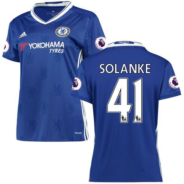 Dominic Solanke Chelsea adidas Women's 2016/17 Home EPL Badge Replica Jersey - Blue - $78.74