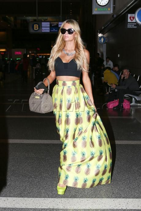 Paris Hilton wearing Nicholas Kirkwood Slingback Green Pumps