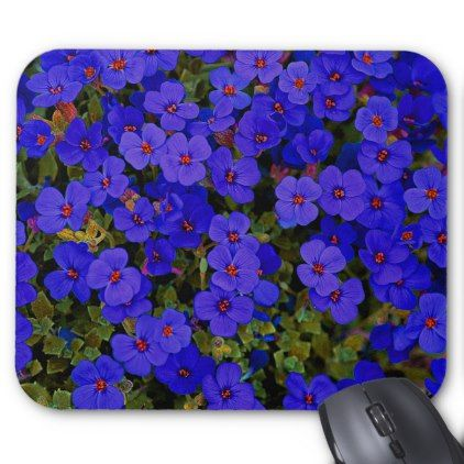 #Small Purple Flowers Mouse Pad - #flower gifts floral flowers diy