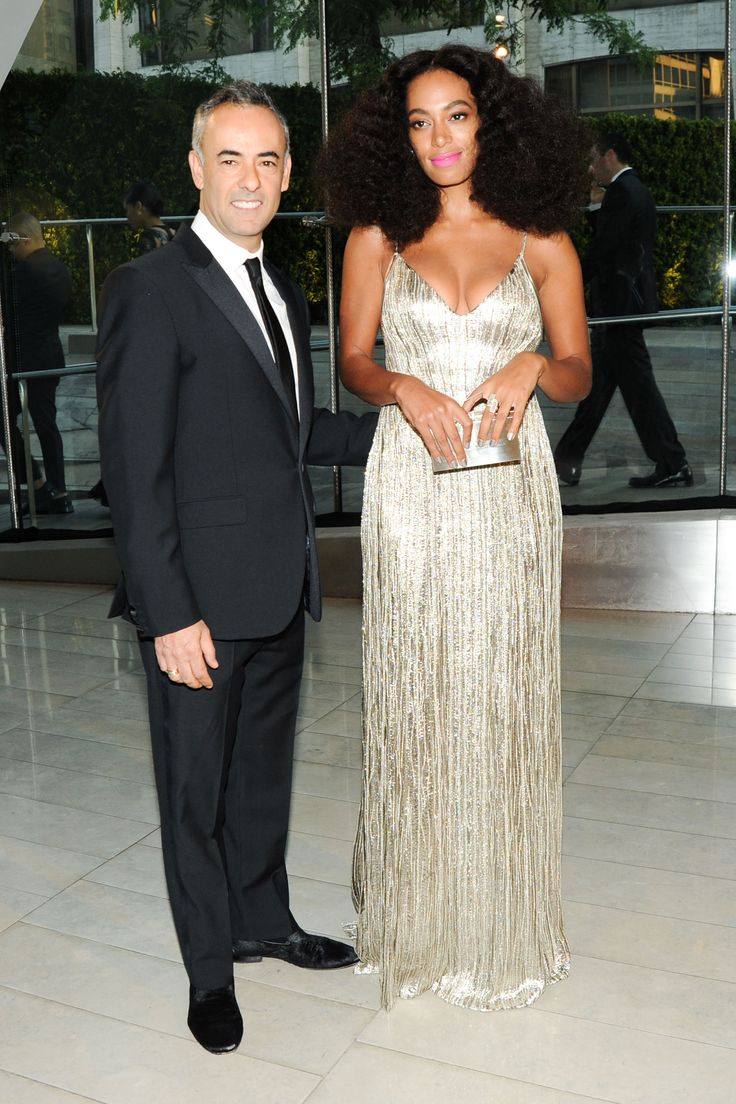 Solange Knowles in Calvin Klein Collection with the designer