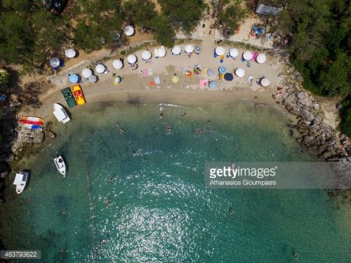 SYVOTA , GREECE - AUGUST 06: Aerial view of The Mikri Ammos... #psiliammos: SYVOTA , GREECE - AUGUST 06: Aerial view of The… #psiliammos