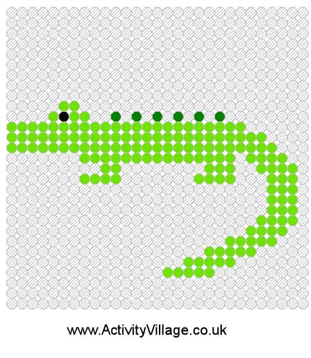 crocodile kralenplank