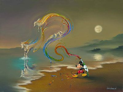 Mickey Mouse - Mickey the Artist - Jim Warren - World-Wide-Art.com - $625.00