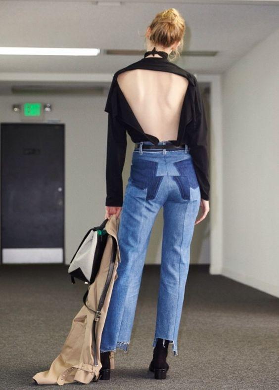 Vetments jeans. джинсы лето 2016. обрезанные джинсы.