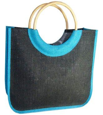 Burlap Fabric Double Colour Jute Shopping Bag