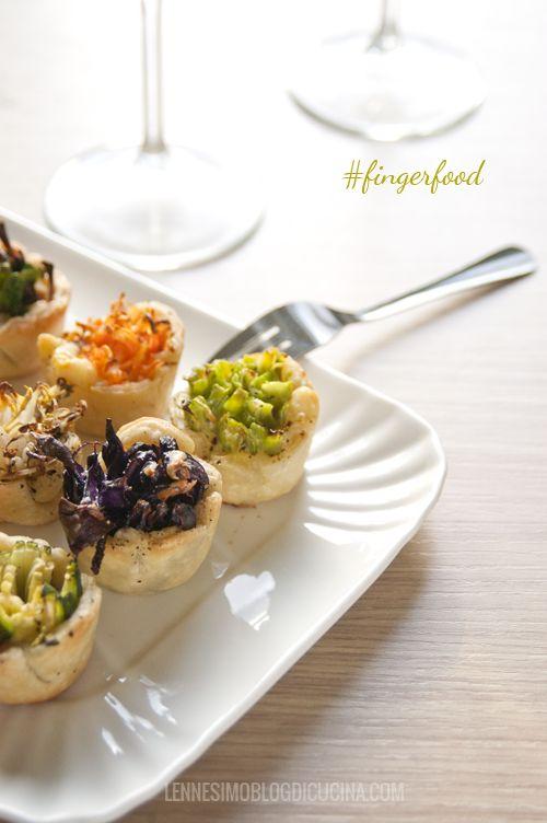 Mini bicchierini di pasta brisé e verdure: veggie finger food