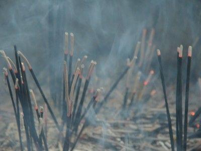 Incense at the Dargah, Mehrauli, New Delhi, India