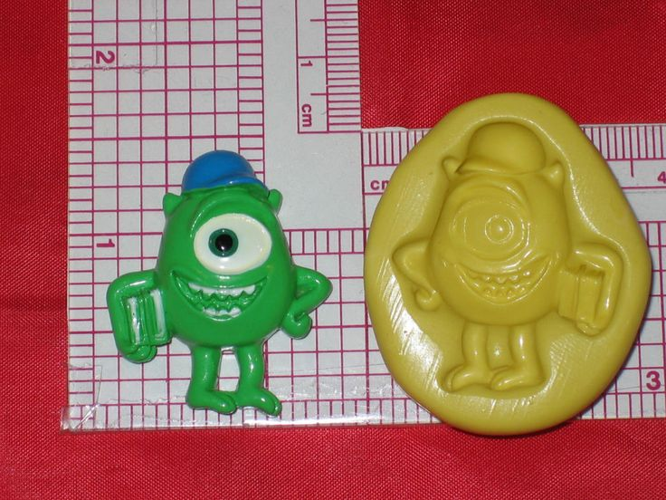 Monsters Inc Mike 2D Push Mold Food Silicone A546 Cake Topper Chocolate Resin #LobsterTailMolds
