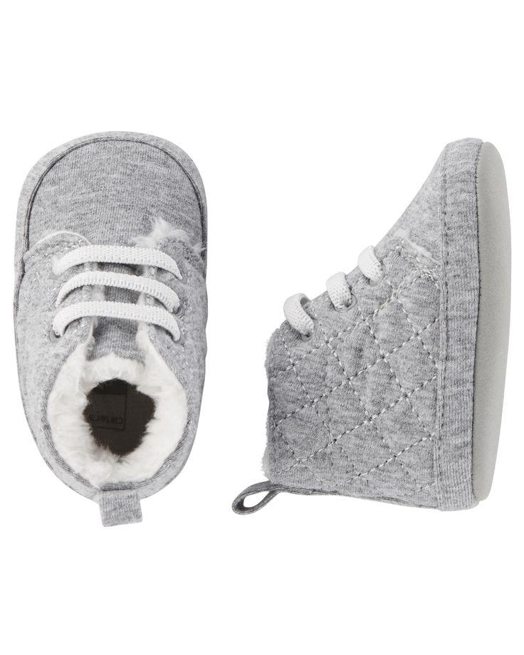 Baby Boy Carter's Sherpa Boot Crib Shoes | Carters.com
