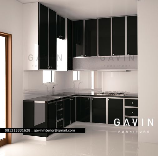 3D design Kitchen set minimalis duco PIK
