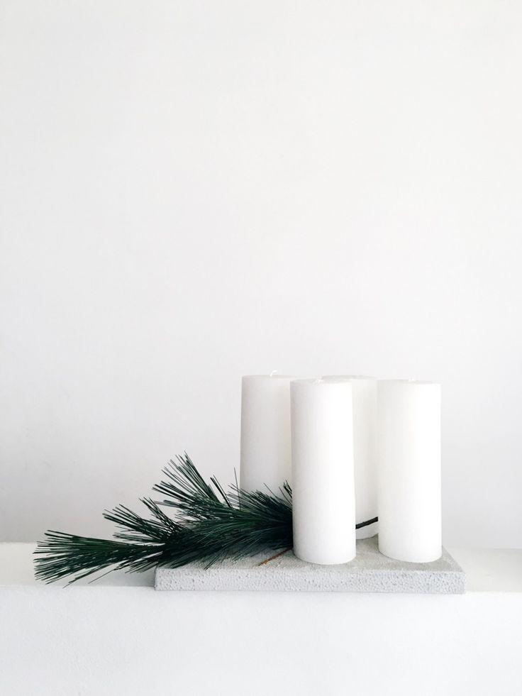 weihnachtsdeko minimalistisch und pur mit beton. Black Bedroom Furniture Sets. Home Design Ideas