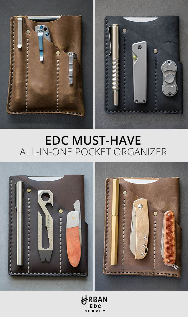 Organize your gear and get more done with the Urban Organizer. This all-in-one pocket organizer holds your essentials together, making it the perfect everyday carry solution. It has a slot for your pen, pocket flashlight and folding knife. It can even hold your iPhone 6 and your favorite Field Notes-sized notebook. Get yours today and everything you need to fill it at urbanedcsupply.com