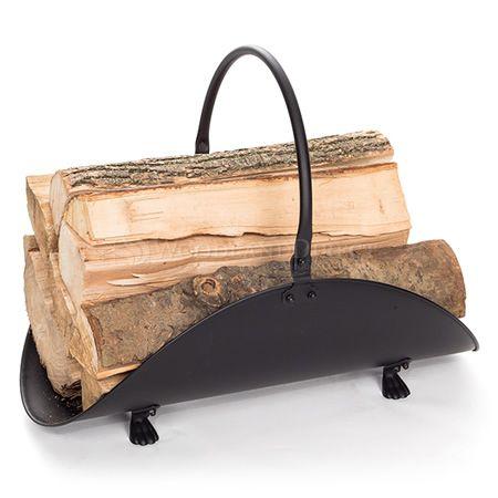 Indoor Firewood Rack - Black | WoodlandDirect.com: Firewood Racks, Minuteman #LearnShopEnjoy