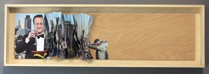 Artist: Kennard Phillips Title: Shove Medium: Mixed Media on Box Frame Size: 103 x 80cm. Edition: 23 (each Unique) Price: £2,500