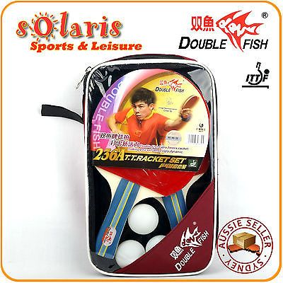 #Double fish 236a #premium 2 players #table tennis bats+3 balls+cover set shakeha,  View more on the LINK: 	http://www.zeppy.io/product/gb/2/111991265383/