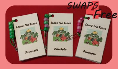 Leave No Trace Scout Booklet SWAPS – SWAPS4Free Free printable! #girlscoutswaps