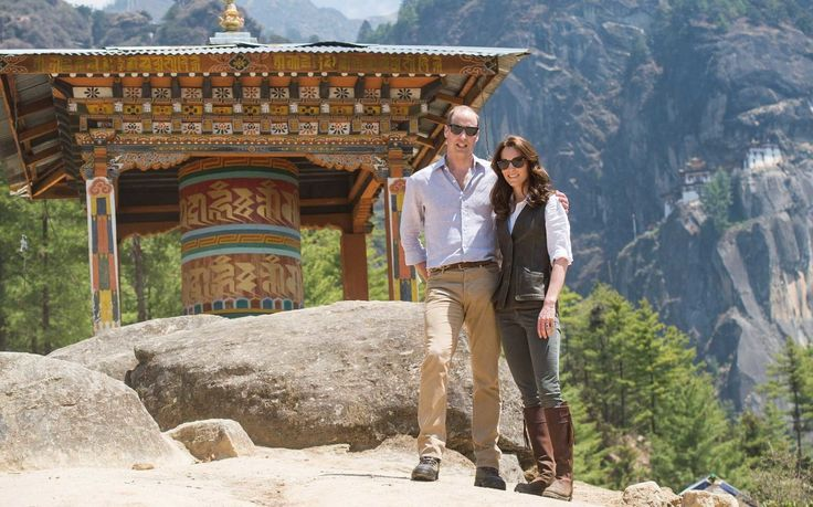 Will and Kate embarked on a three-hour climb to the top of the Tiger's Nest Monastery.