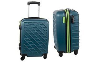 Valise trolley rigide PIERRE CARDIN pétrole bagages à main ryanair S293