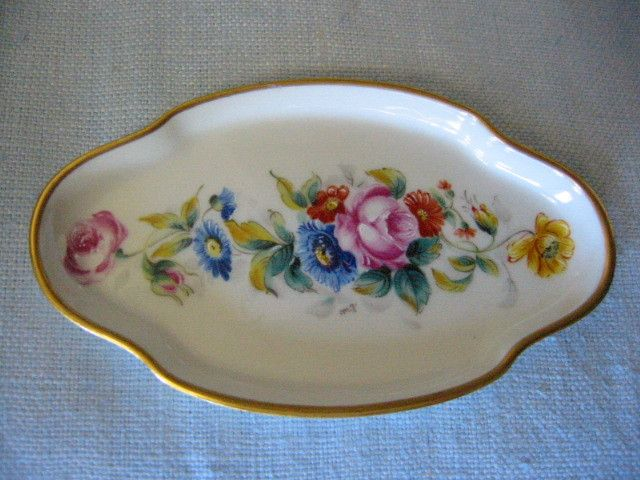 Vintage gorgeous art deco Limoges France miniature tray, hand painted, with…