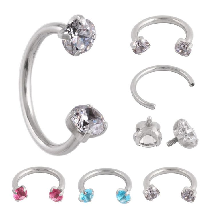 Swan Jo 361L Earring Internal  Piercing Septo Nose Lip Eyebrow Ear Septum Cartilage Helix Captive Hoop Ring Piercing Nose Rings
