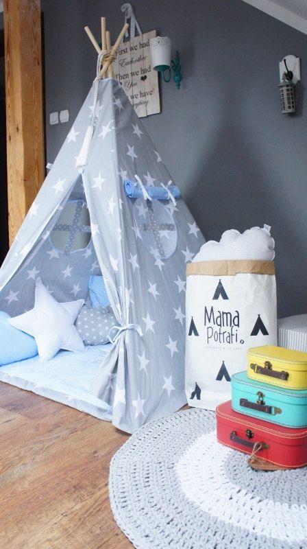 Teepee Set Kids Play Tent Tipi Playhouse Wigwam by MamaPotrafi