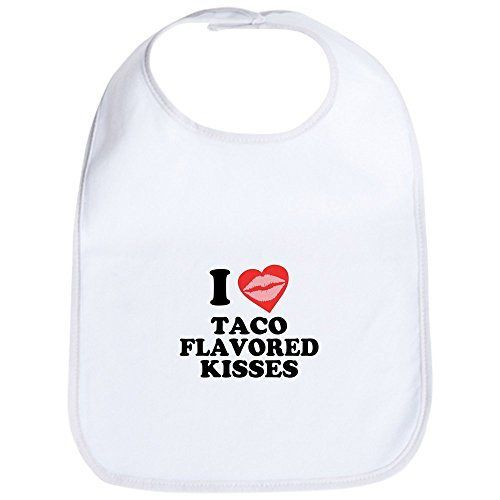 CafePress  Taco Flavored Kisses Bib  Cute Cloth Baby Bib Toddler Bib *** You can find more details by visiting the image link.