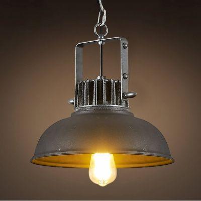 Kaufen (EU Lager)Rustikal Pendelleuchte aus Eisen Schale Design Schwarz 1-Flammig mit Günstigste Preis und Gute Service!
