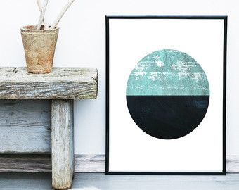 Poster minimalista, stampabile Art, arte astratta, stampa arte geometrica, arte scandinava, arte moderna, decorazione della parete, Wall Art, Download immediato