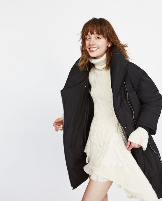 1ac82e21 Image 3 of LONG PUFFER COAT WITH CROSSOVER ZIP from Zara | F - DHK ...