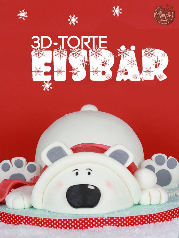 Entdecken Sie die zauberhafte Anleitung samt aller benötigten Materialien für eine 3D-Torte in Form eines Eisbären von Féerie Cake.