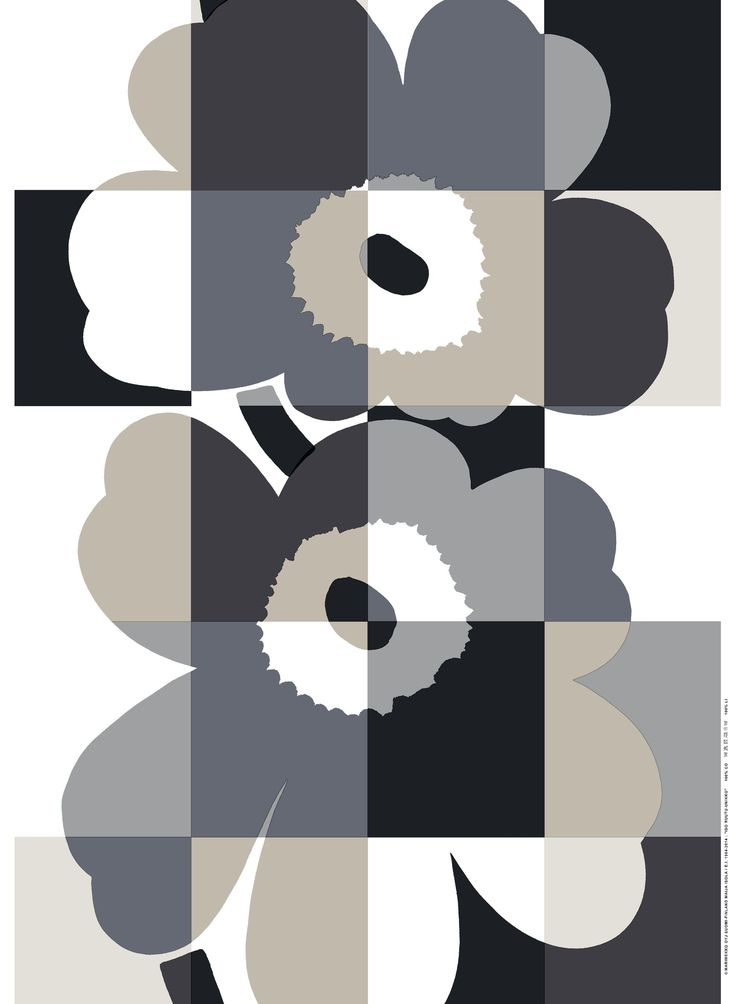 Marimekko fabric - Iso Ruutu-Unikko NEXT FALL/WINTER2015-16