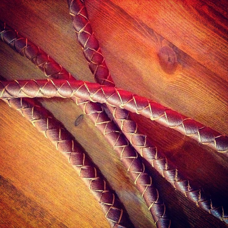 Round braided leather straps ready for their handmade tote bags http://wolfblossomleather.etsy.com/