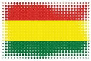 Halftone effect flag of Bolivia