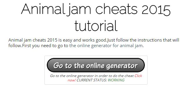 Animal jam cheats 2015 | online hack generator