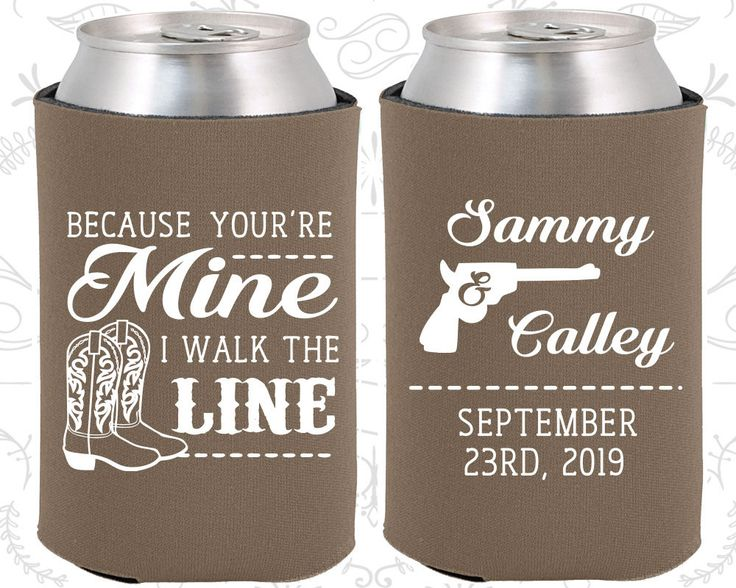 Because You are mine, I walked the line, Personalized Wedding, Country Wedding Favors, Western Wedding Favors, Cowboy Boots, Personalized Koozies (474)