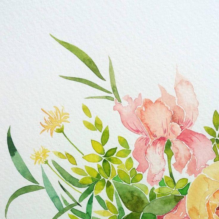 오돌토돌 수채화 종이와 여리여리한 꽃은 항상 잘 어울린다.  #nonameillustrator #illust #illustration #painting #watercolor #일러스타그램 #일러스트 #페인팅 #손그림 #수채화 #flowerstagram #flower#wildflowers #bouquet #pink #plants #꽃 #부케 #꽃다발 #꽃스타그램 #핑크 #꽃그림 #식물