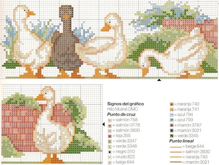 duck cross stitch