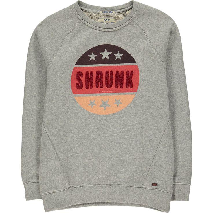 Scotch Shrunk Sweater Met Badstofapplicatie