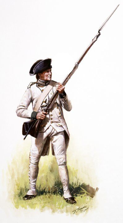 French;Saintonge Regiment, Private, Yorktown 1781 by Don Troiani