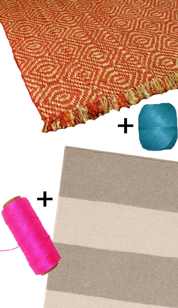 Whip Stitch Togther Several Small Rugs With Contrasting Thread To Create One Large Rug
