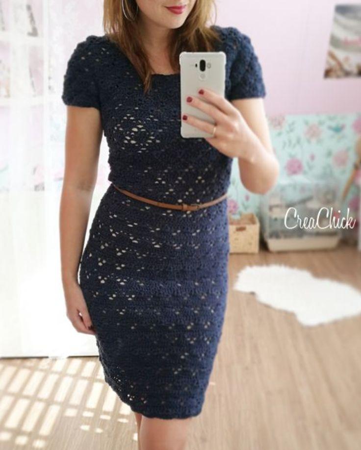 Kijk wat ik gevonden heb op Freubelweb.nl: een gratis haakpatroon van CreaChick om deze mooie jurk te maken https://www.freubelweb.nl/freubel-zelf/gratis-haakpatroon-jurk-2/