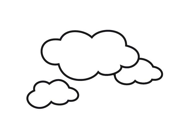 Clouds, : Awesome Shape of Clouds Coloring Page | Coloring ...