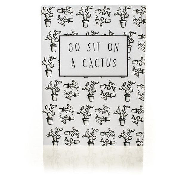 Go Sit On a Cactus Notebook ($15) ❤ liked on Polyvore featuring home, home decor and stationery