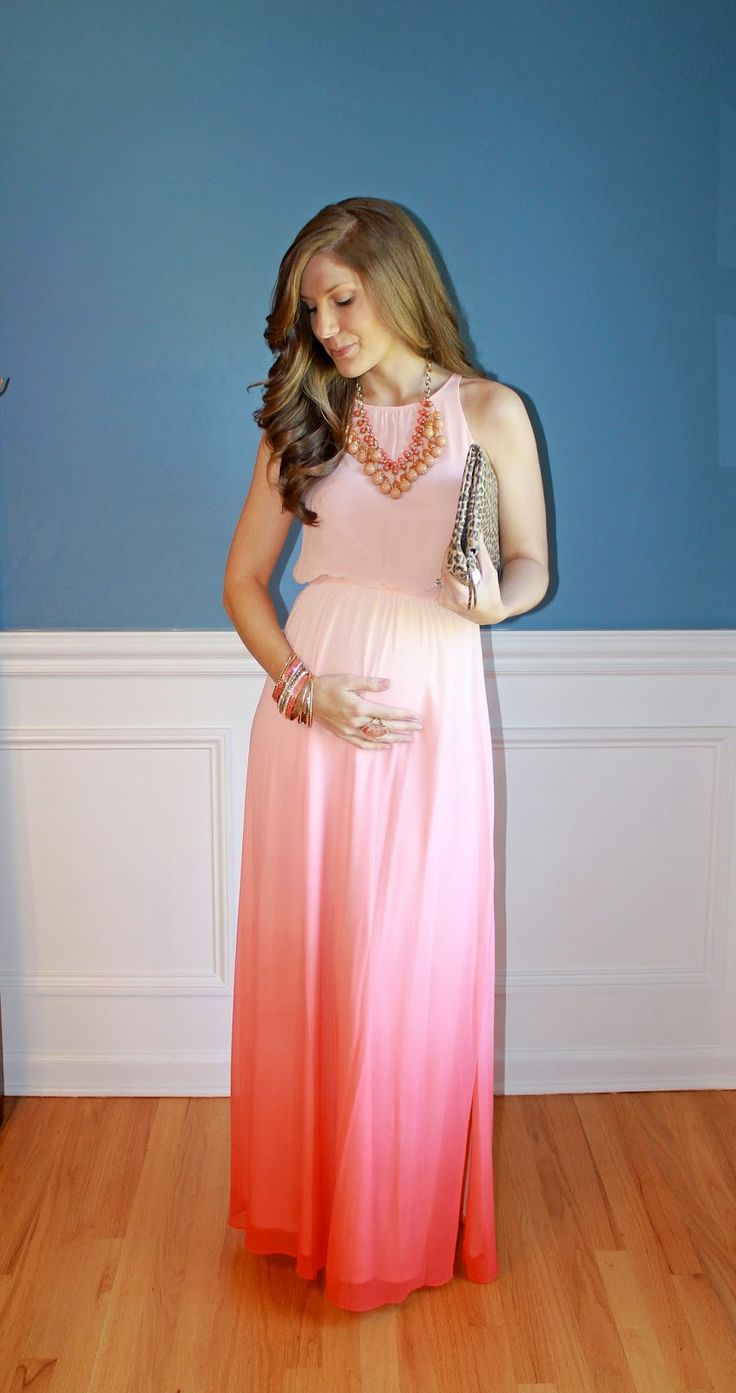 Hot pink maternity maxi dress   best Maybe a baby images on Pinterest  Child room Baby rooms