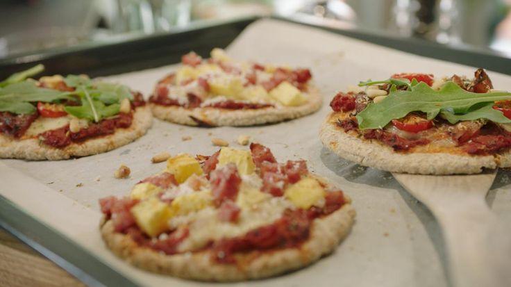 Pizzetta's Hawaï en Prosciutto | VTM Koken