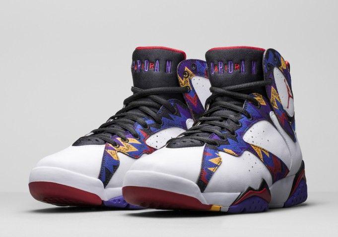 Hot On Sale Nike Air Jordan 7 Cheap sale White Varsity Purple Fl