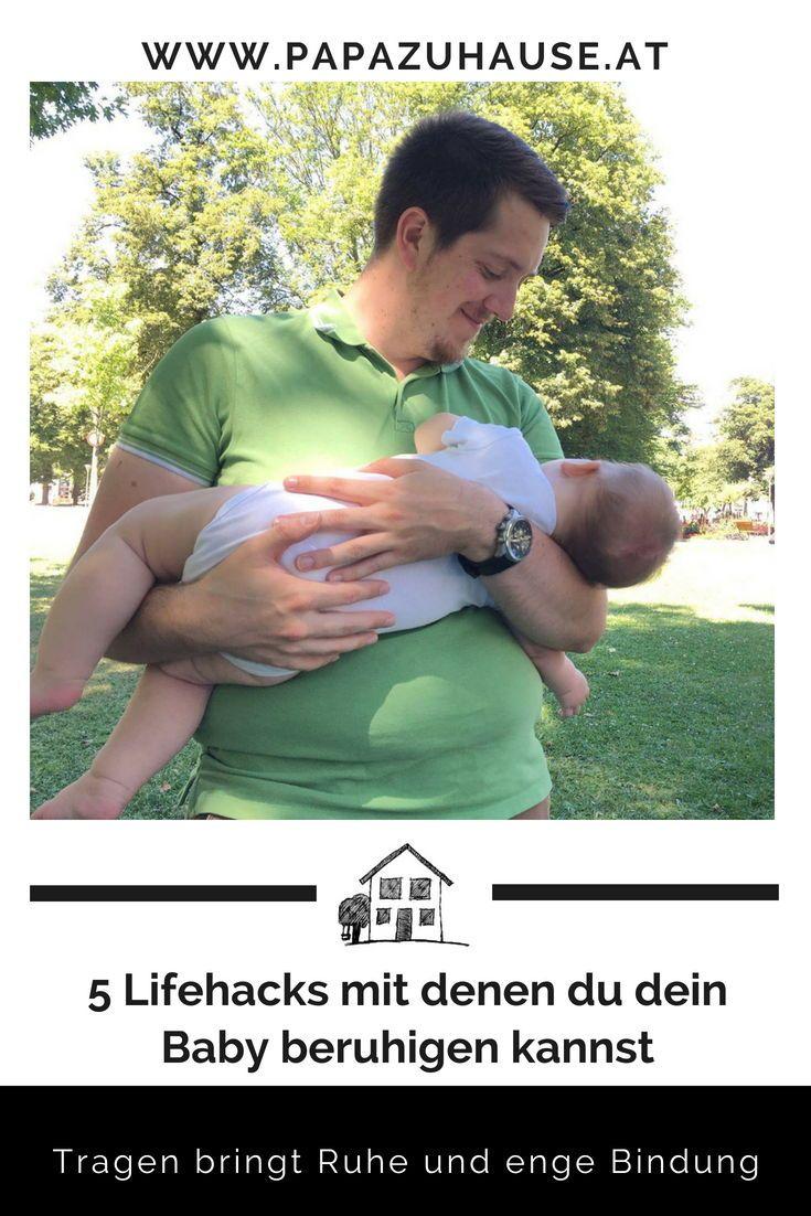 Dein Baby beruhigen mit einem bestimmten Griff? Damit kann ich leider nicht dienen. Aber mit meinen 5 Lifehacks, mit denen du dein Baby beruhigen kannst!     #babyberuhigen #tragen #tragebaby #wombsounds #tragenistliebe #tragenberuhigt #gymnastikball #lifehacks #top5 #höchstestufe #papablog #elternblog #familienblog #lebenmitbaby #babytipps #einschlaftipps