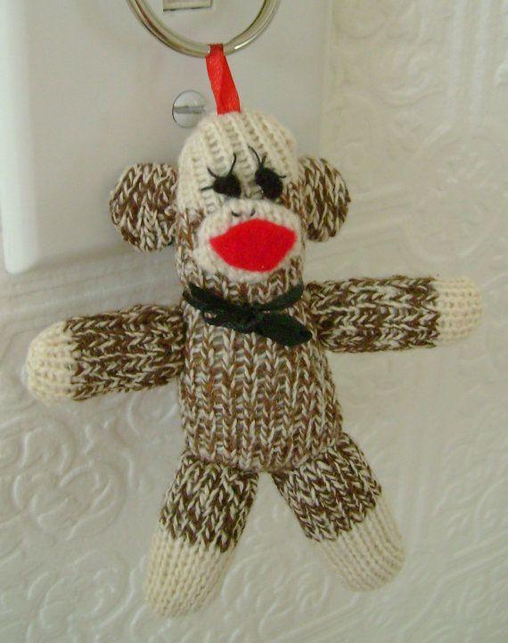 Custom sock monkeys and other great custom items!  https://www.etsy.com/listing/157818887/sock-monkey-key-ring